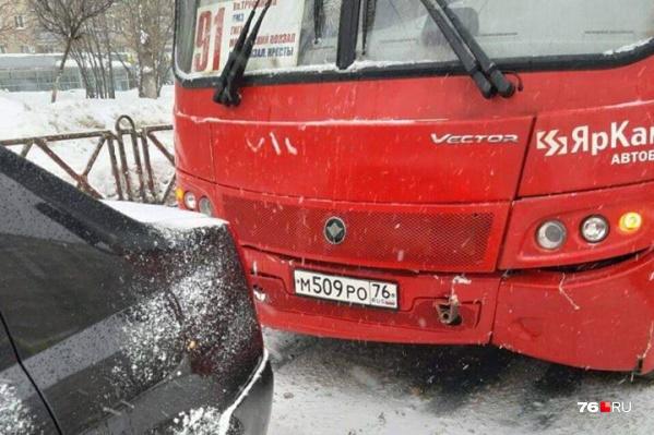 ДТП произошло 30 января на Московском проспекте