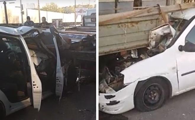 В Ростове на Ларина «Рено-Логан» протаранил две машины. Есть пострадавшие