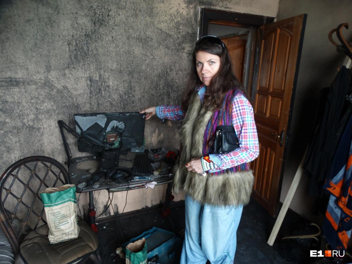 В квартире Елены Табольской сгорела детская комната