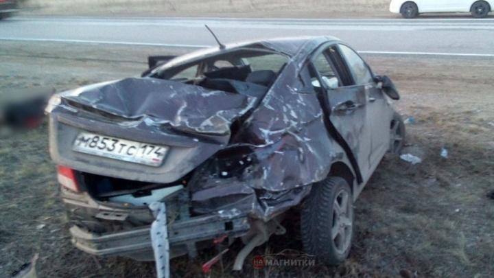 «Водитель заснул»: на трассе в Челябинской области перевернулась машина BlaBlaCar
