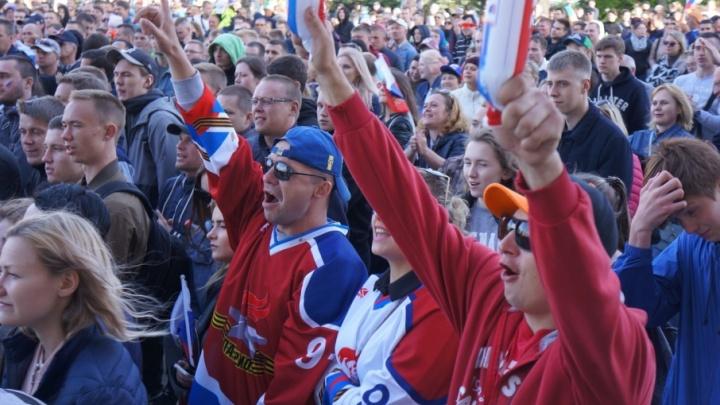 Невероятно, победили! Как Архангельск болел за Россию: фоторепортаж из фан-зоны