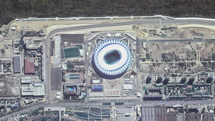 Роскосмос показал вид на «Волгоград Арену» с борта МКС