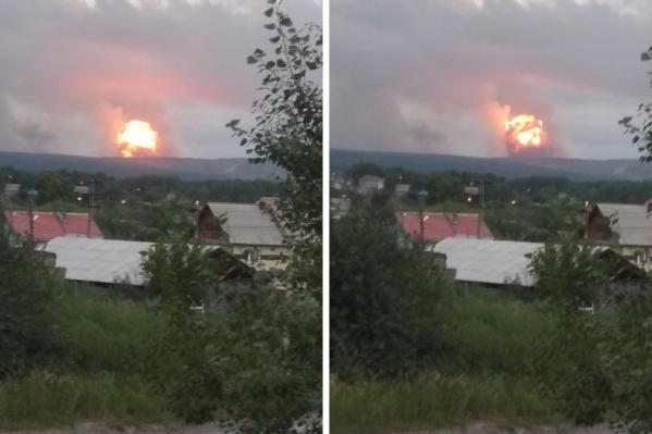 Взрыв произошел около 18:00