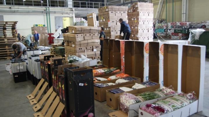 80 тонн цветов к 1 сентября приняла таможня в аэропорту Кольцово