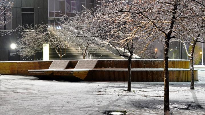 Любуйтесь, пока не растаял! Екатеринбург за ночь замело снегом