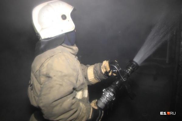 Девять пожарных разделились на две группы: одни тушили пожар, другие искали и эвакуировали жителей
