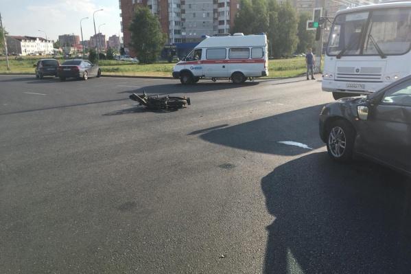 Мотоциклист не успел среагировать