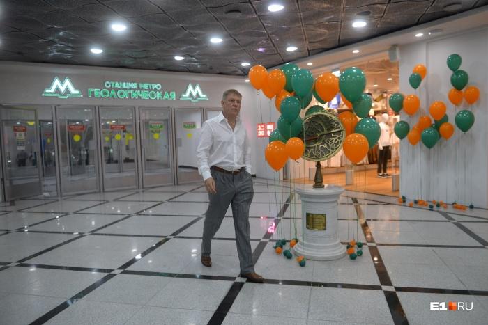 Игорь Заводовский на открытиинового перехода из метро в «Гринвич»