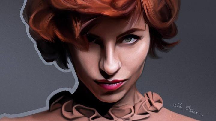 Художница рисует на планшете невероятно реалистичные портреты красноярских звезд