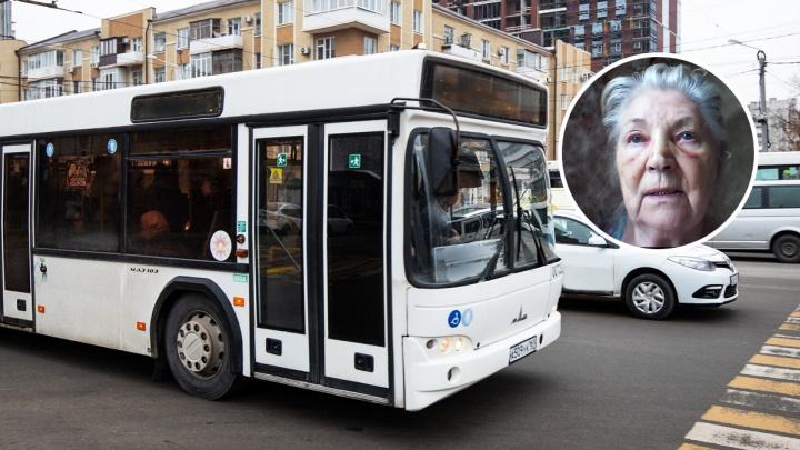 Пенсионерка из Таганрога сломала нос, проехавшись в ростовском автобусе