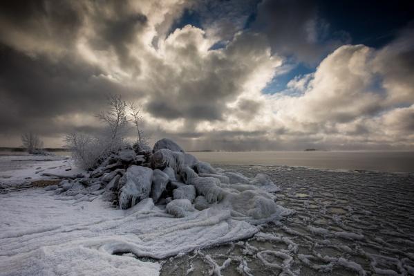 Обское море начало мёрзнуть