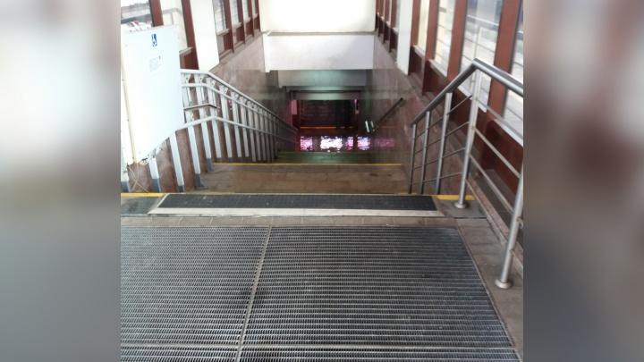 На вокзале Ярославль-Главный затопило подземный переход