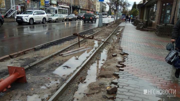 Скандальные ремонтники Мира требуют остановить все работы на проспекте и заплатить им миллионы
