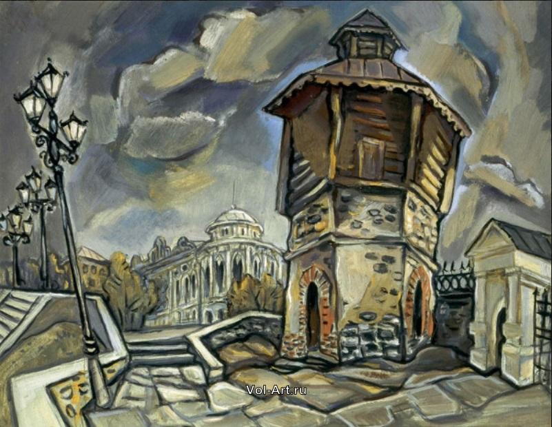 Одна из работ художника из серии «Старый Екатеринбург»