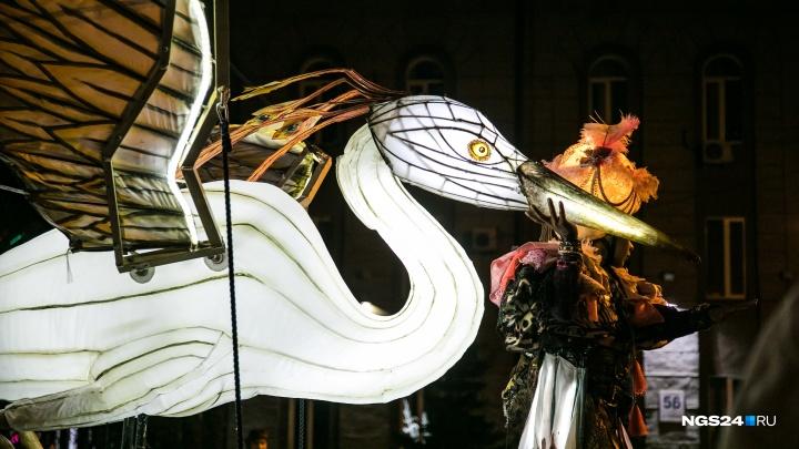 Сказочное шоу огромных птиц: смотрим изумительные кадры карнавала на правом берегу