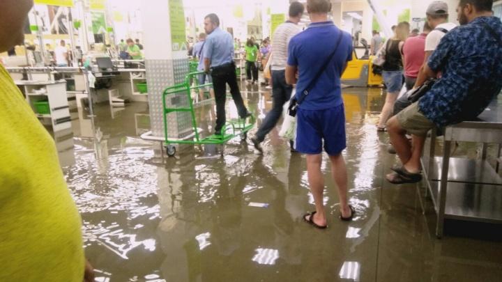 В Самаре затопило гипермаркет «Леруа Мерлен»