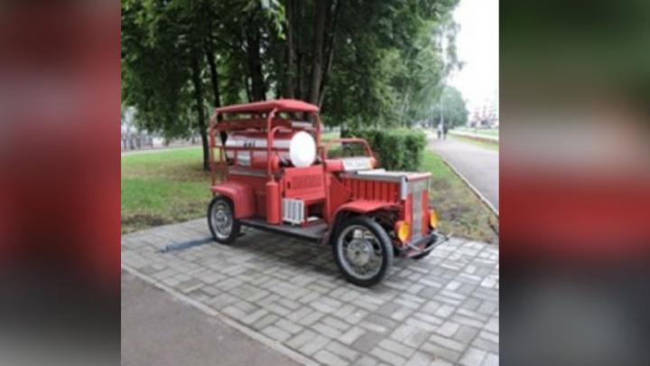 В Башкирии заметили необычную пожарную машину