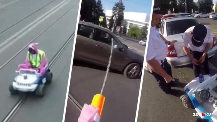 В Ростове пранкера оштрафовали за то, что он изображал регулировщика в костюме розового кролика