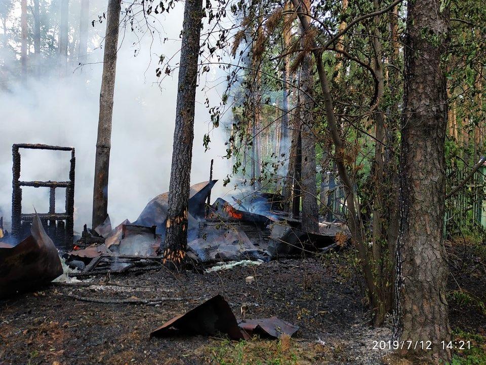 Пожар произошел на территории заброшенных «генеральских дач», принадлежащих Министерству обороны РФ