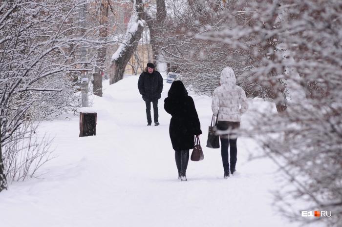На этой неделе в городе ожидается снег