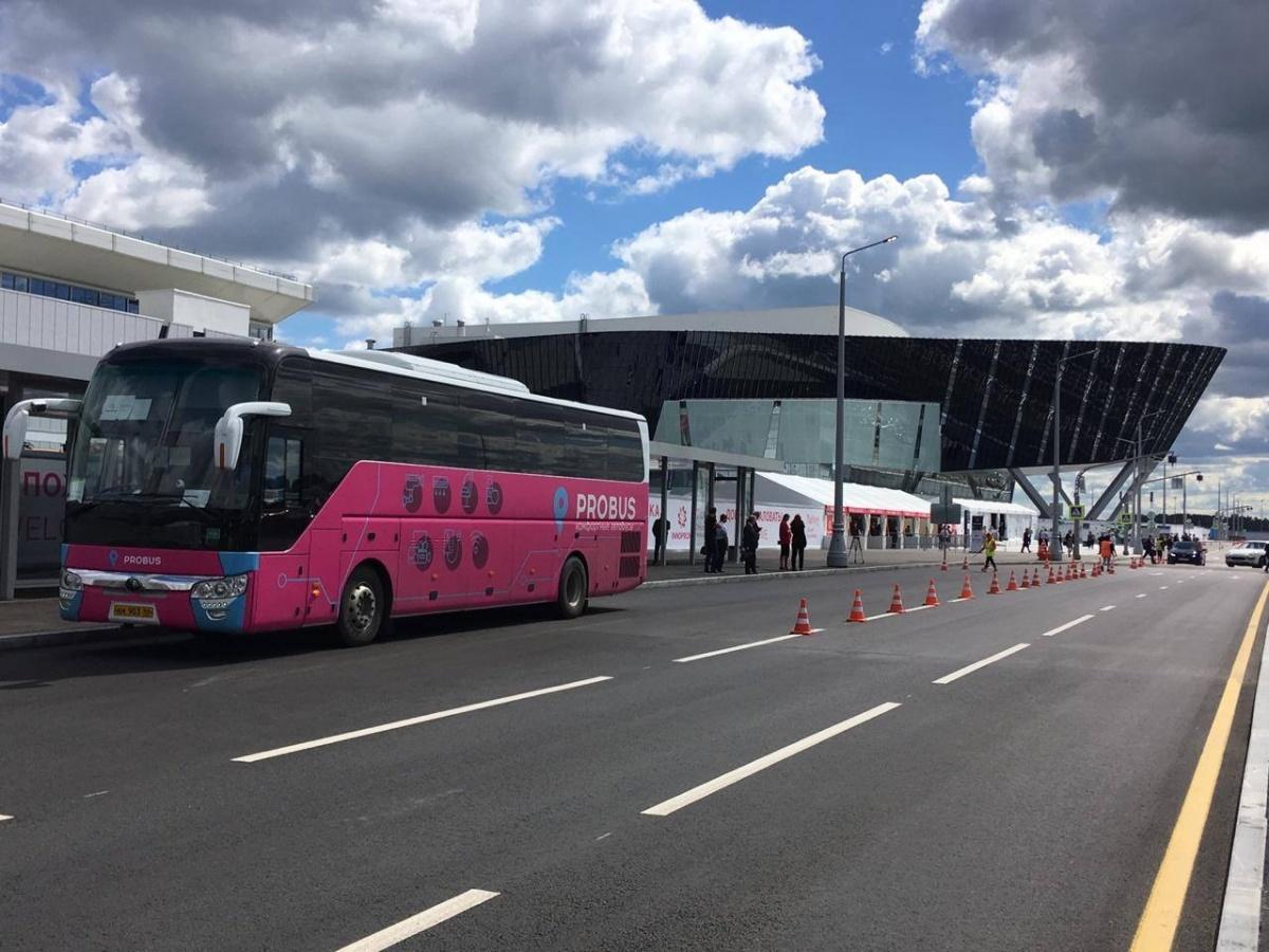 Розовые автобусы — от официального перевозчика выставки