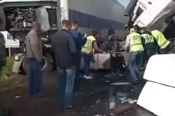 В аварии Пострадали более 30 человек