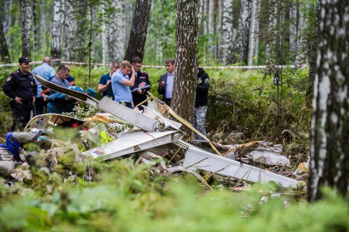 От самолёта, на котором летел Владимир Бардокин, остались только обломки
