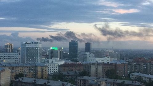 Несколько очевидцев сообщили о столбе дыма