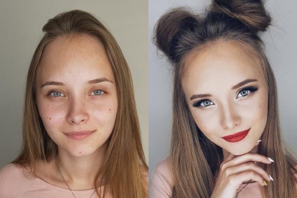 Эта девушка после макияжа — просто потрясающая конфетка