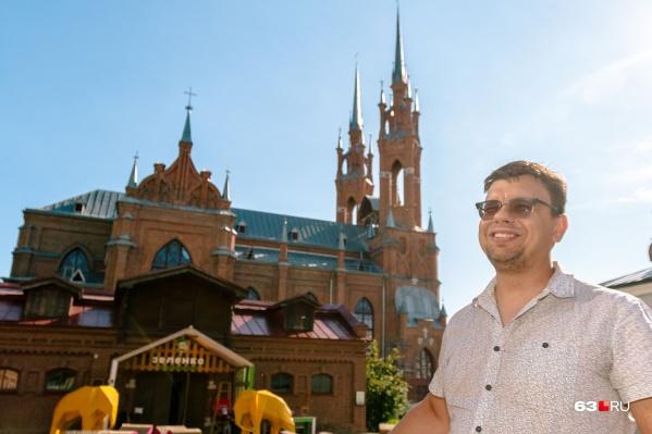 Дмитрий Храмов — один из авторов проектов по изменению внешнего облика Волжского склона