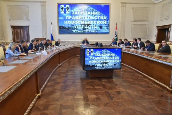 Огромный экранпоявится в малом зале правительства — на нём будут показывать презентации и видеоролики