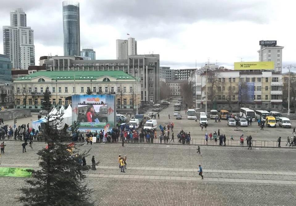 На эстафете «Весна Победы» зрителей было немного