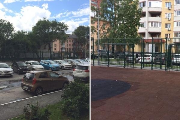 Так сегодня выглядит спортивная площадка, которую тюменцы хотят оставить в своём дворе