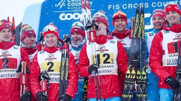 Команда свердловского лыжника Евгения Белова выиграла этап Кубка мира в эстафете