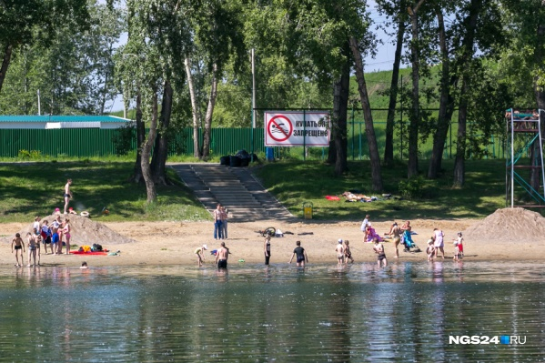 В Красноярске пока вообще нигде не разрешено купаться