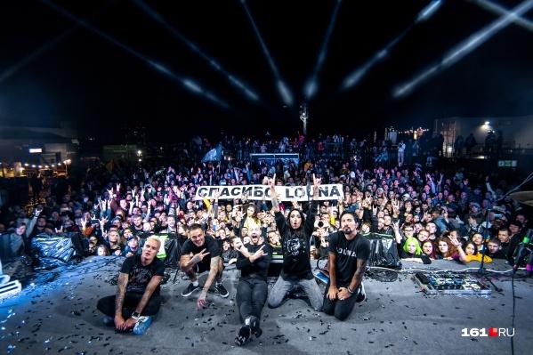 Группа Louna выступила в этом году в Ростове уже третий раз
