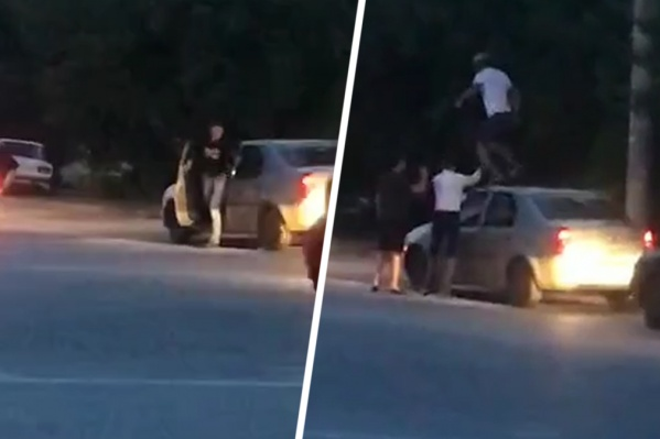 Неадекватные пассажиры разгромили чужой автомобиль