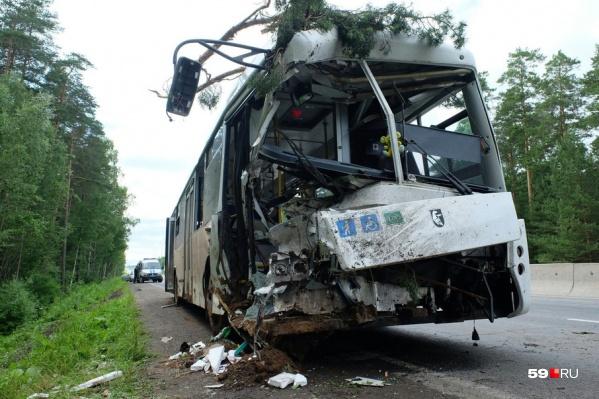 Автобус двигался из Краснокамска в Пермь