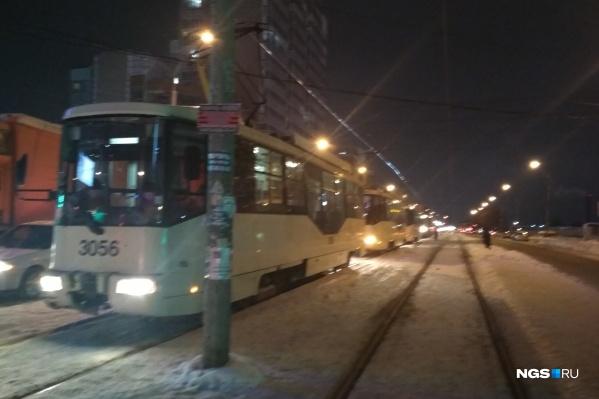 ДТП полоностью блокировало проезд по путям
