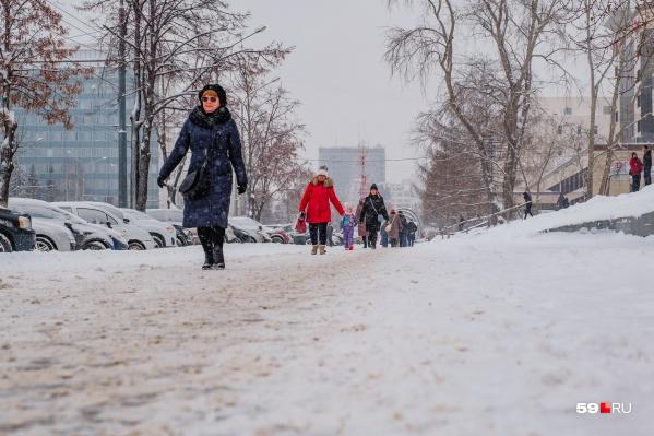 В конце недели в Прикамье будет тепло, но возможен снег