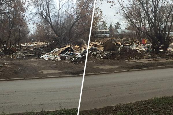 Свалки после снесенных гаражей — современный самарский бич