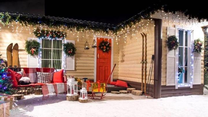 Выбраны самая красивая зимняя витрина, двор и офис в Красноярске