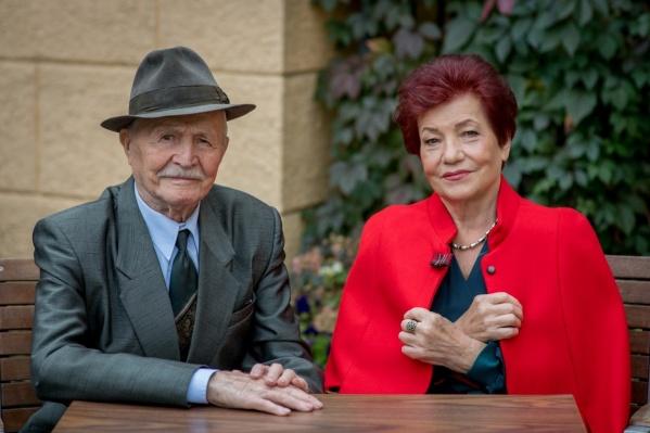 На фото— Елисеевы Егор Макарович (91 год) и Валентина Дмитриевна (84 года). В этом году супруги отметили 66 лет совместной жизни