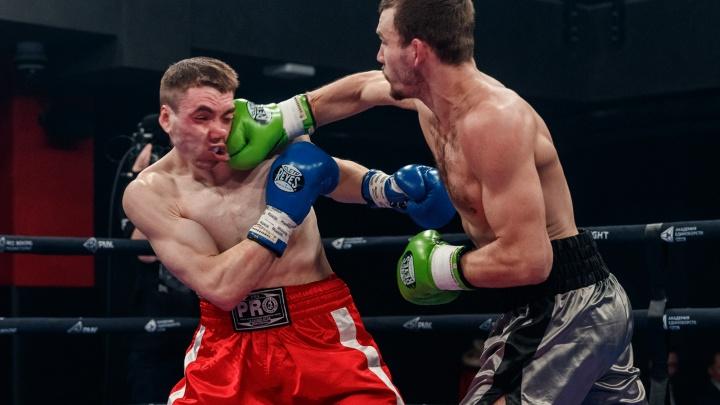 Несколько нокдаунов подряд и сломанные карьеры: в Екатеринбурге прошел вечер профессионального бокса