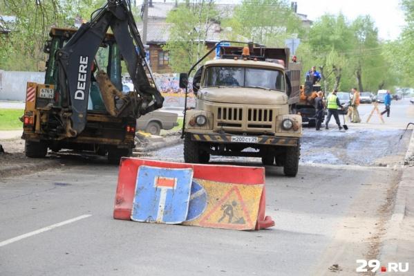Архангельск получит на ремонты дорог в 3,3 раза больше средств, чем планировалось ранее