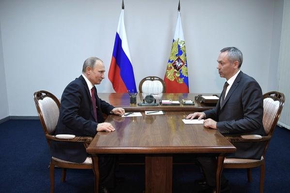 Владимир Путин был с визитом в Новосибирске накануне, 8 февраля