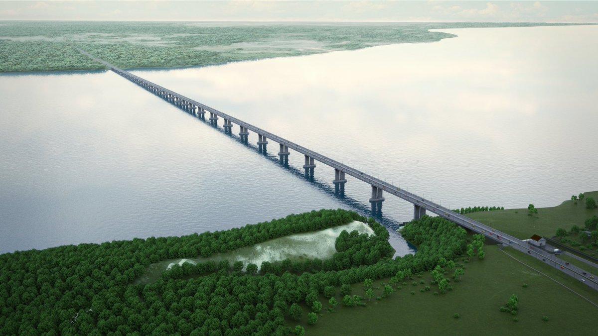 Вот так мост будет пересекать Волгу