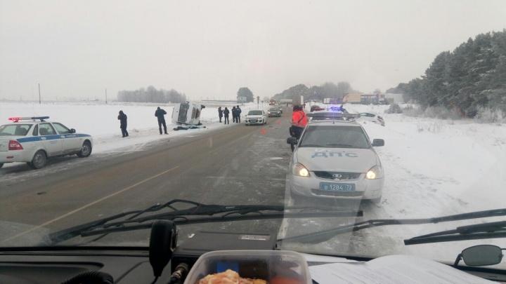 Водитель, устроивший под Тюменью массовое ДТП с двумя погибшими, ехал под 110 километров в час
