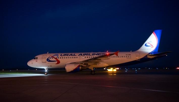 Самолёт «Уральских авиалиний», развернувшийся в небе из-за неполадок, приземлился в Кольцово