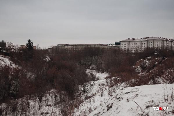 Лог Тюменки находится в непосредственной близости от комплекса здания Тюменского государственного университета